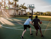 Clients Playing Basketball